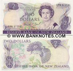 New Zealand 2 Dollars Front: HM Queen Elisabeth II; Back: Mistletoe plant; Mistletoe Plant, Nz History, International Flags, Two Dollars, Elisabeth Ii, State Of Arizona, Kiwiana, Old Toys, Back In The Day
