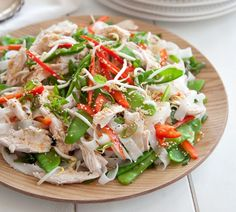 Vietnamese Roast Chicken Noodle Salad - Quick and Easy Recipes, Organic Food Recipes, New Zealand Cooking Recipes - Annabel Langbein Chicken Noodle Salad Recipe, Roast Chicken Noodles, Chicken Recipes, Salad Chicken, Chicken Curry, Healthy Food Options, Healthy Recipes, Easy Recipes, Delicious Recipes