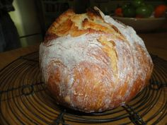 Down to Earth: Five minute bread. Well does take a little more time. Mix it up let set overnight. Next day put in a dutch oven and bake. Easy