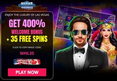 """Vegas Casino Online is welcoming the arrival of 2021 with a super exciting 35 FREE Spins offer! Vegas Casino Online RTG RealTime Gaming The promo code: BPROS29 is your key to unlock the FREE Spins on the RTG powered slot game, """"Magic Mushroom"""". Play for FREE now and WIN real cash! Visit Vegas Casino Online If you decided to make a first deposit, you will be thrill by the huge 400% Match Bonus too! Online Casino Games, Online Gambling, Best Online Casino, Online Casino Bonus, Best Casino, Uk Casino, Vegas Casino, Casino Sites, Live Casino"""