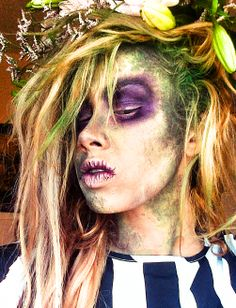 #Beetlejuice #Beetleguise inspired #makeup #deraerai from the Tim Burton Movie. Apparently a sequel is on its way!?