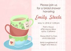 Mixbook Tea Time Bridal Shower Invitations