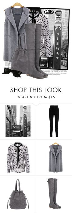 """Yoins in the big city"" by tasha1973 ❤ liked on Polyvore featuring Balmain and Ray-Ban"