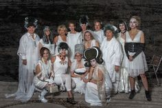 The call was made to wear white....later the fun will be had.  These Brides didn't disappoint.
