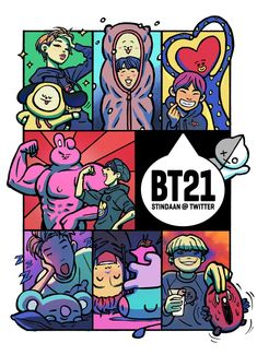 bts & bt21 fanart | ♡
