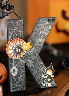 Mod Podge Halloween Letters