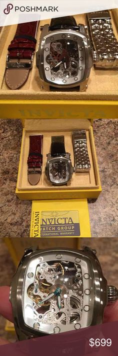 Men's Invicta Watch!!! Beautiful watch. Comes with the interchangeable bands of which two have never been taken out of the box. Worn maybe 10 times. invicta Accessories Watches