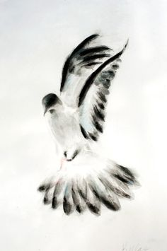 ARTFINDER: Dove 2 by Kellas Campbell - I used ink ground from an ink stick and…