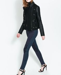JACKET WITH MEDALLIONS from Zara