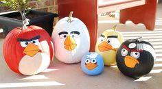 diy burlap pumpkin   angry bird pumpkins 004 — Creations by Kara