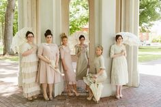 Dainty jewels had the prettiest bridesmaid dresses in her wedding