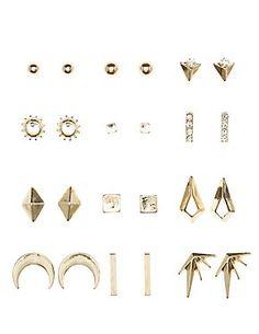 Dreamy Stud Earrings 12 Pack #CharlotteLook