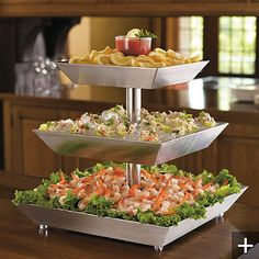 Hors d'oeuvres - shrimp cocktail. Love this set up!