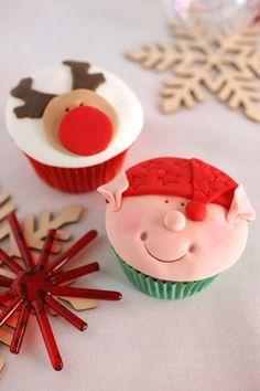 """2bites"" cheery Xmas cupcakes"