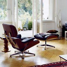 Lounge Chair new fåtölj - Lounge Chair new fåtölj - körsbär, läder grand black