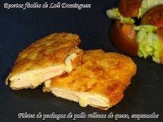 Filetes de pechugas de pollo rellenas de queso, empanados – Recetas fáciles de Loli Domínguez