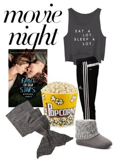 """""""Movie night"""" by klove2814 on Polyvore featuring adidas, SONOMA Goods for Life and Hodges"""