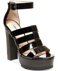 Steve Madden Groove Platform T-Strap Sandals