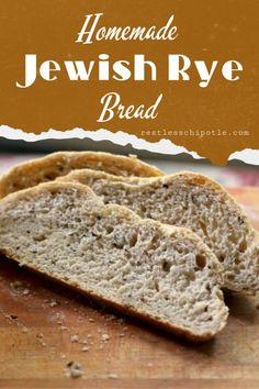 Homemade rye bread is easy with this recipe! A secret ingredient gets the flavor just right. Homemade Rye Bread, Rye Bread Recipes, Best Homemade Bread Recipe, Baking Recipes, Homemade Rolls, Jewish Rye Bread, Quick Bread Rolls, Seed Bread