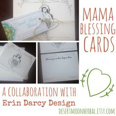 10 Mama Blessing Cards and Envelopes - Perfect for Mother Blessings (Blessingways) or Expectant Mothers - Desert Moon Herbal - This Holy Work - Erin Darcy Design