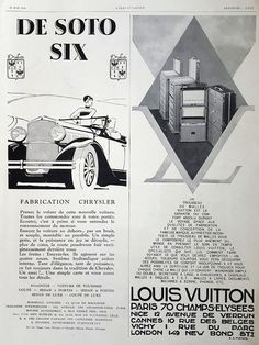 LOUIS VUITTON poster original magazine ad French vintage by OldMag