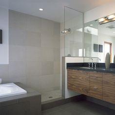 5,000 Modern Doorless Shower Design Ideas U0026 Remodel Pictures | Houzz |  Bathroom Layout | Pinterest | Houzz, Bathroom Layout And Modern Bathroom