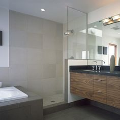 5,000 Modern Doorless Shower Design Ideas & Remodel Pictures | Houzz