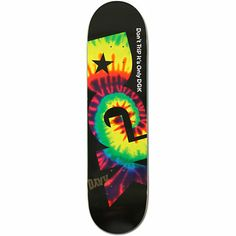 "The new DGK Don't Trip 8.1"" skateboard deck has a durable 7-ply maple construction for shape and pop that lasts. Shred on the tie dye ""DGK"" Don't Trip It's Just DGK logo graphic with medium concave so you get the perfect amount of pop and control."