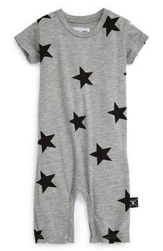Nununu 'Star' Short Sleeve Romper Oneseid (Baby Boy) | Nordstrom