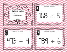 I created these task cards as a way to have the opportunity for a lot of repetition. Divide 3 digits by one digit with decimals. Included: 23 task cards Recording sheet Answers with decimals Answers key Math 5, Math Multiplication, First Grade Math, Kindergarten Math, Fun Math, Teaching Math, Fractions, Fourth Grade, Common Core Education