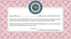 Carta de Bienvenida a la Sociedad de Socorro