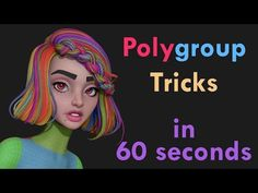 60 Second Tut - Polygroup Tricks in Zbrush - YouTube