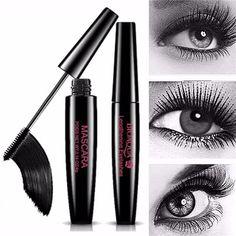 BIOAOUA Black Waterproof Mascara Lengthening Curling Eyelash Extension Spiral Brush