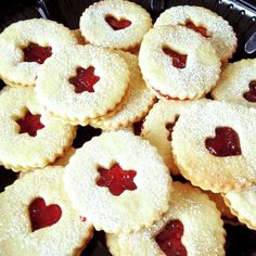 "Cranberry Cornmeal Linzer Cookies I ""Great recipe and a hit with ..."