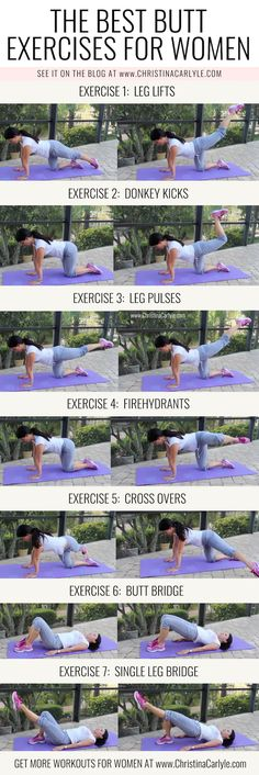 The Best Booty Building Butt Exercises that Arent Squats - Women Jeans - Ideas of Women Jeans - The Best Butt Exercises for women from Christina Carlyle christinacarlyle. Top Plans for Preparing For Butt Workout Fitness Workouts, Training Fitness, At Home Workouts, Health Fitness, Butt Workouts, Yoga Fitness, Fitness Quotes, Glute Exercises, Squat Workout