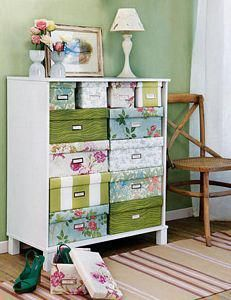 Storage Boxes Fabric covered