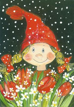 Illustration by Virpi Pekkala, Finland Vintage Cards, Vintage Postcards, Christmas Fun, Christmas Cards, Baumgarten, Woodland Creatures, Cute Characters, Whimsical Art, Pretty Art
