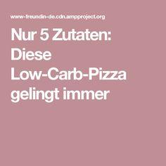 Nur 5 Zutaten: Diese Low-Carb-Pizza gelingt immer