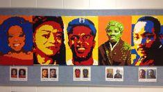 Oprah Winfrey, Faith Ringgold, Jackie Robinson, Harriet Tubman, Martin Luther King Jr.