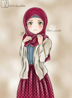 Islamic Anime Wallpaper New Pin By Shayma On - Cute Girls hijab wallpaper - Hijab Girly M, Hijabi Girl, Girl Hijab, Beautiful Muslim Women, Beautiful Hijab, Hijab Drawing, Islamic Cartoon, Lovely Girl Image, Hijab Cartoon