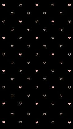 Pink on black hearts