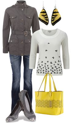 """Butterfly Spring Outfit"" by hvershure on Polyvore"