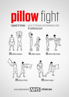 Pillow fight! #fun #exercise