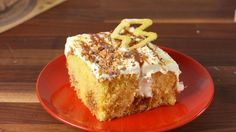 Butterbeer Poke Cake-Shelly's note: This is amazing!