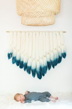 Combining natural wood and wool elements with crisp white and deep sea blue is the perfect way to add an easy breezy feel to the nursery. Boho Nursery, Nursery Neutral, Girl Nursery, Nursery Modern, Nursery Rugs, Baby Nursery Themes, Baby Boy Nurseries, Nursery Ideas, Handmade Baby Quilts