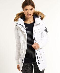 SuperDry Everest Duffle Coat - glacier/dark navy $268.00