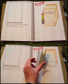 Cool smash book technique! ~ I've done this before in my journal when I write something on scraps of paper and then want to insert it into my regular journal.