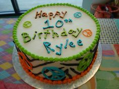 Peace Sign cake for Karagan Peace Sign Cakes, Peace Cake, Birthday Ideas, Birthday Parties, Birthday Cake, Cupcake Cakes, Cupcakes, Party Stuff, Cake Ideas