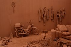 Chen Zhen: Purification Room (2000). Found objects and clay.