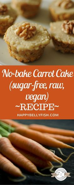 Raw Sugar-Free Carrot Cake Recipe (No Bake, Vegan),desserts vegan Cake Recipe No Sugar, Sugar Free Carrot Cake, Healthy Carrot Cakes, Healthy Cake Recipes, Carrot Recipes, Healthy Baking, Raw Food Recipes, Sugar Cake, Sugar Sugar